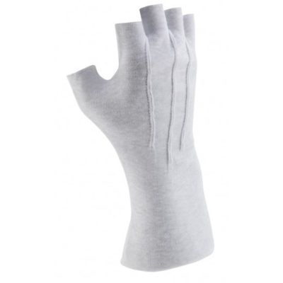 Fingerless Gloves - White