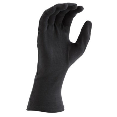 Long Wristed Cotton Gloves - Black