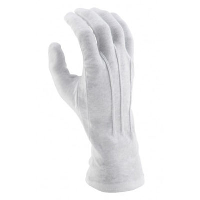 Long Wristed Cotton Gloves - White