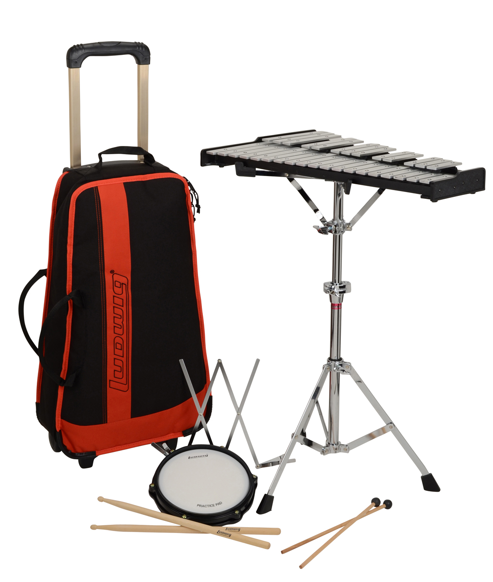 Ludwig m652rbr bell kit rettig music for Yamaha student bell kit with backpack and rolling cart